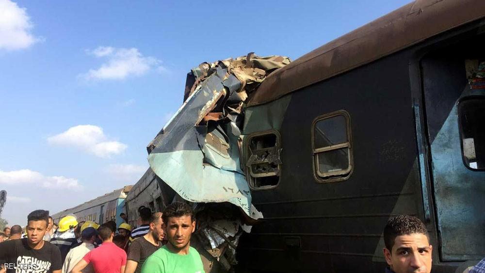 ارتفاع جديد لضحايا تصادم القطارين في مصر