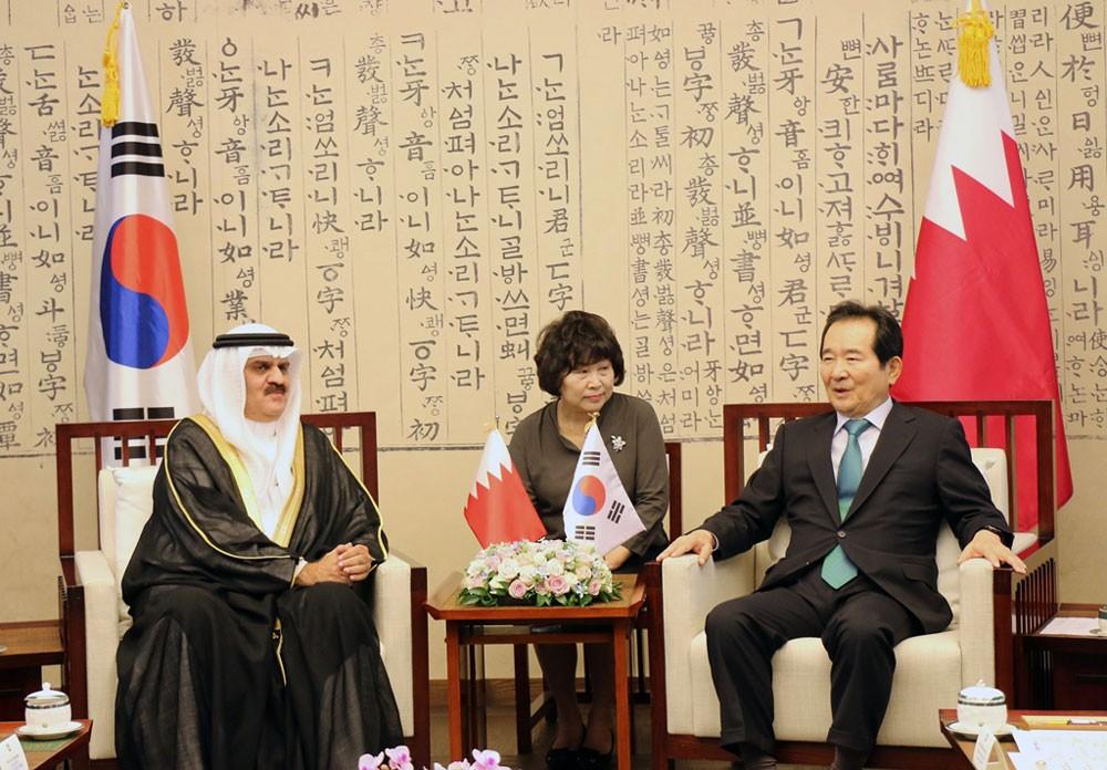 رئيس مجلس النواب البحريني يجتمع بنظيره الكوري الجنوبي