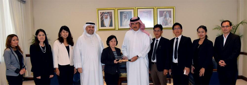 وفد تايلاندي يطلع على جهود البحرين في مجال تطوير أنظمة سوق العمل