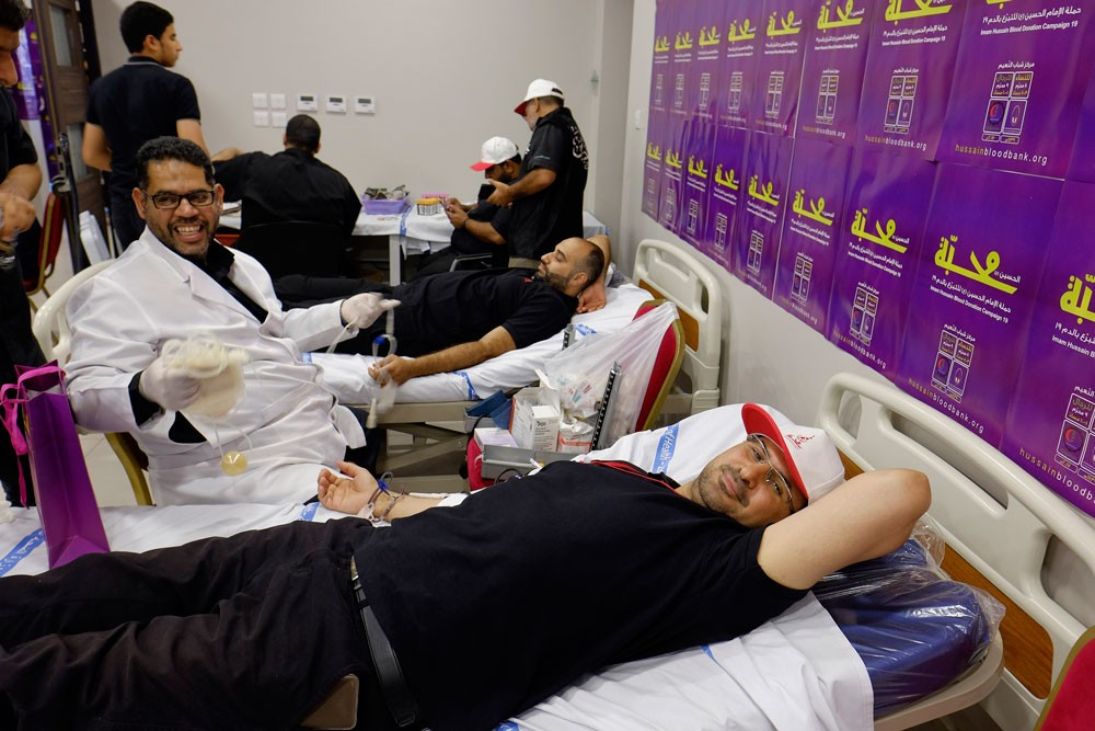 حملة الإمام الحسين للتبرع بالدم تحصد أكثر من 600 كيس في يومين
