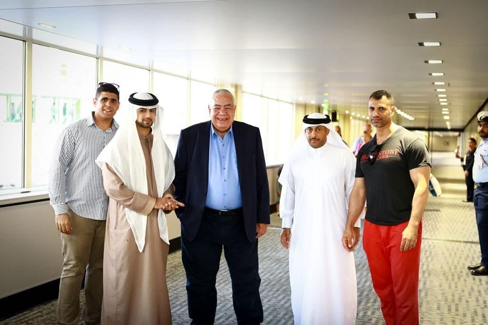 اتحاد رفع الأثقال يستقبل الدكتور عادل فهيم بمطار البحرين الدولي
