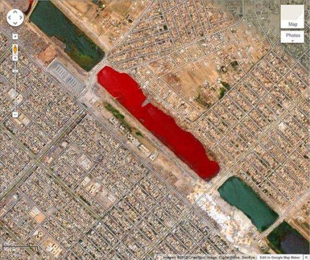 """لغز """"بحيرة الدم"""" في العراق"""