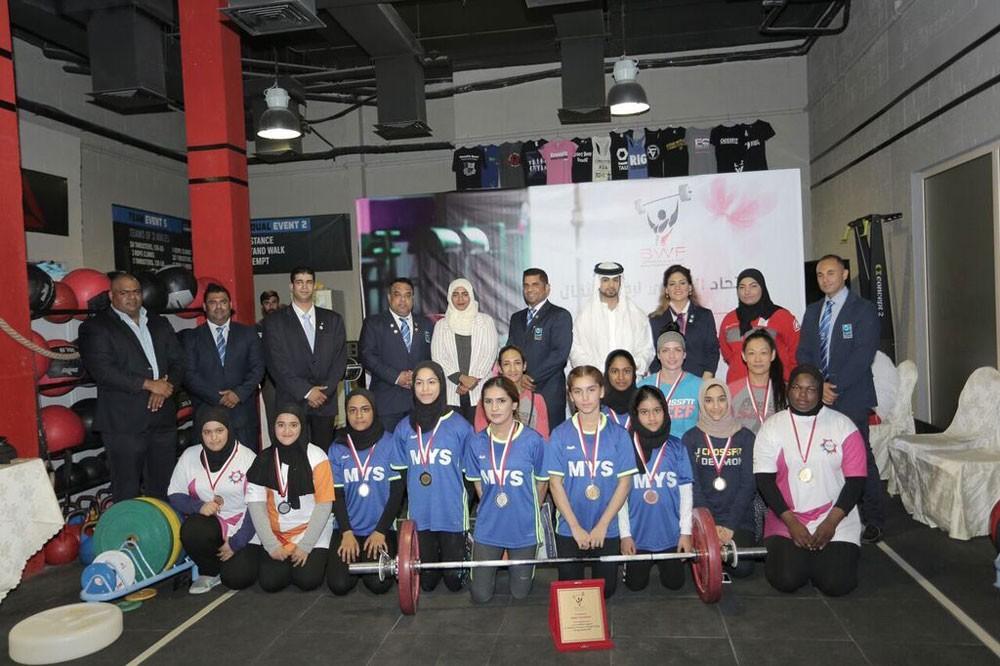 نجاح مميز لبطولة الاتحاد البحريني لرفع الأثقال للسيدات بالسيف كروس فت