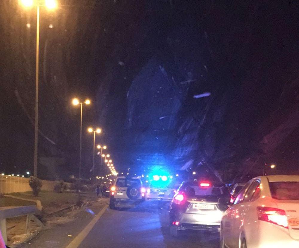 حادث مروري بليغ على شارع الاستقلال
