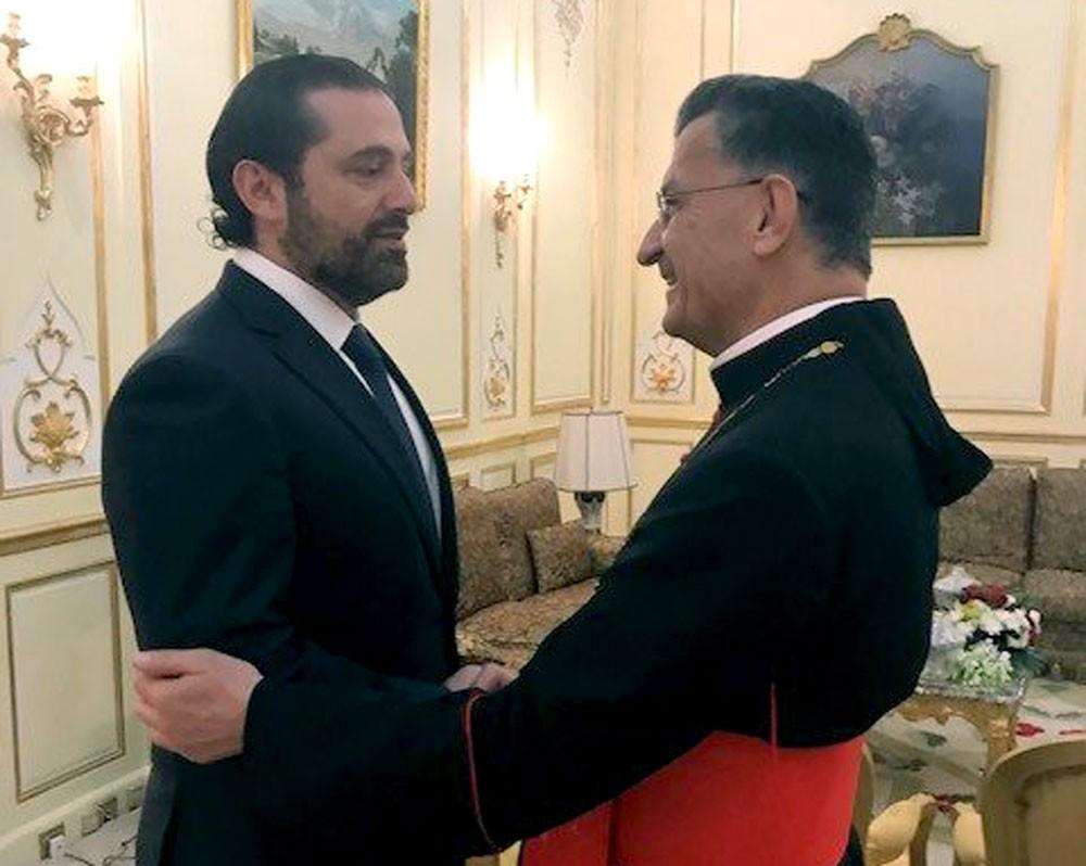 الحريري يلتقي البطريرك الراعي في الرياض