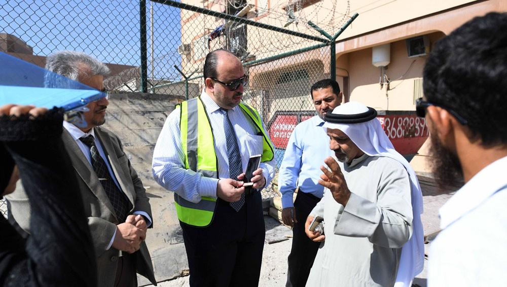 وزارة الأشغال تباشر عملية اصلاح المنازل المتأثرة في منطقة بوري