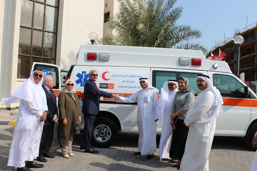 NBB يتبرع بسيارة إسعاف لجمعية الهلال الأحمر البحرينية