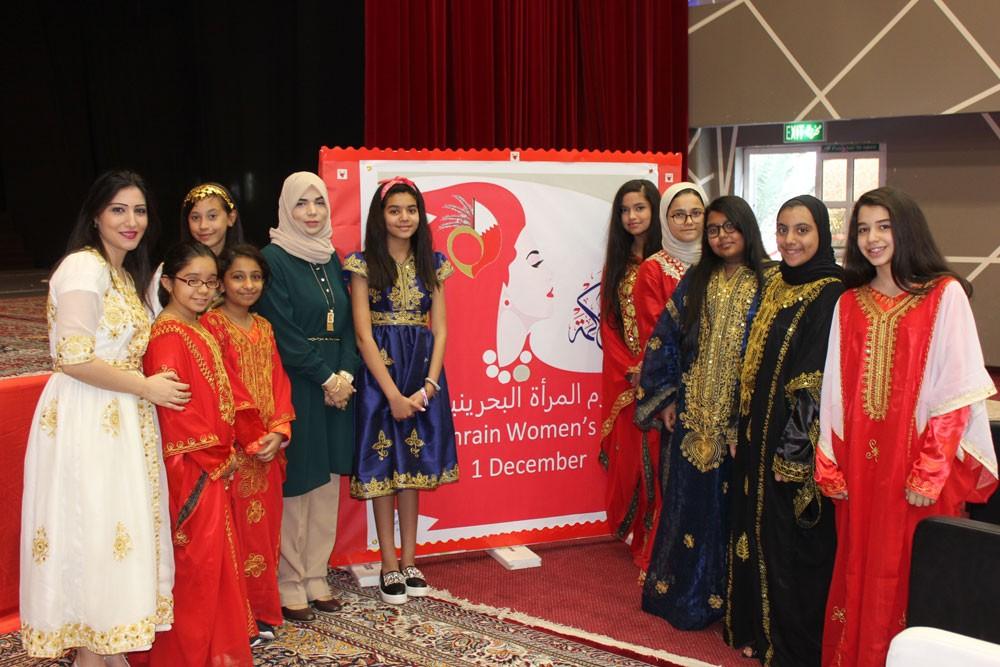 مدرسة الحكمة الدولية تحتفل بيوم المرأة البحرينية