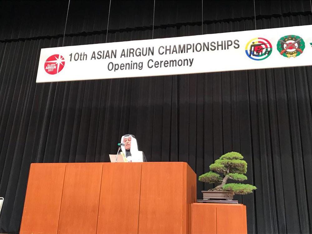 علي بن عبدالله يعلن افتتاح البطولة الآسيوية العاشرة للرماية في طوكيو