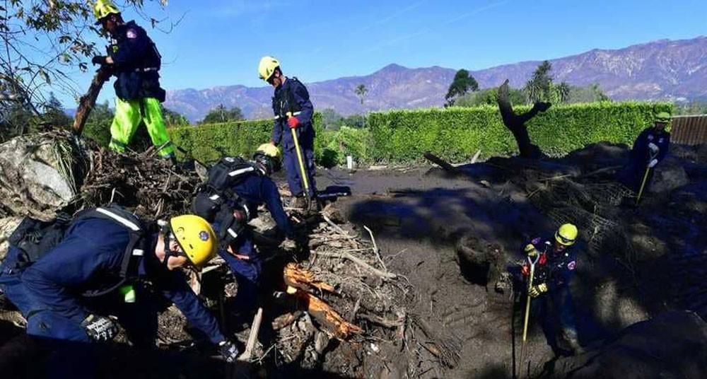 ارتفاع عدد قتلى الانهيارات الطينية في كاليفورنيا