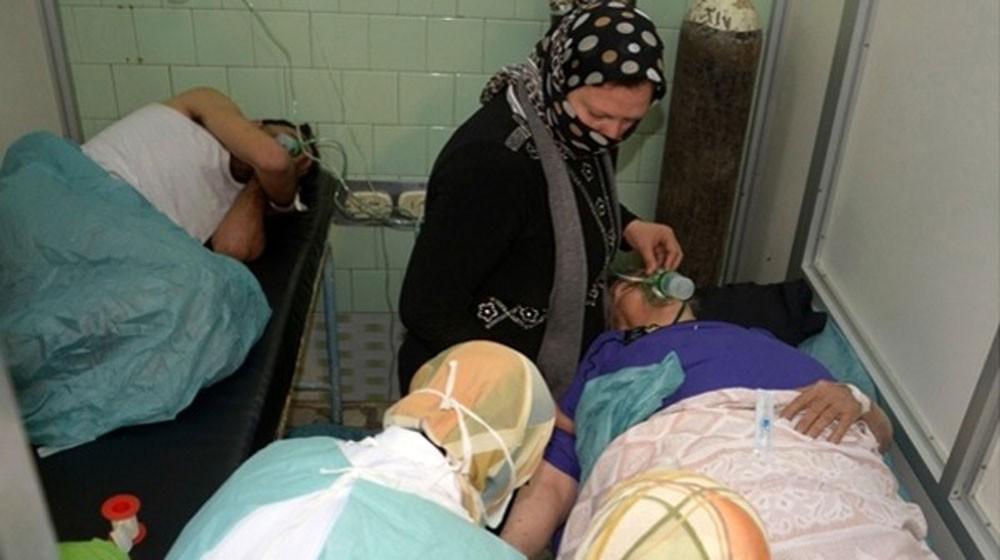 حالات اختناق بغازات إثر قصف للنظام السوري على سراقب