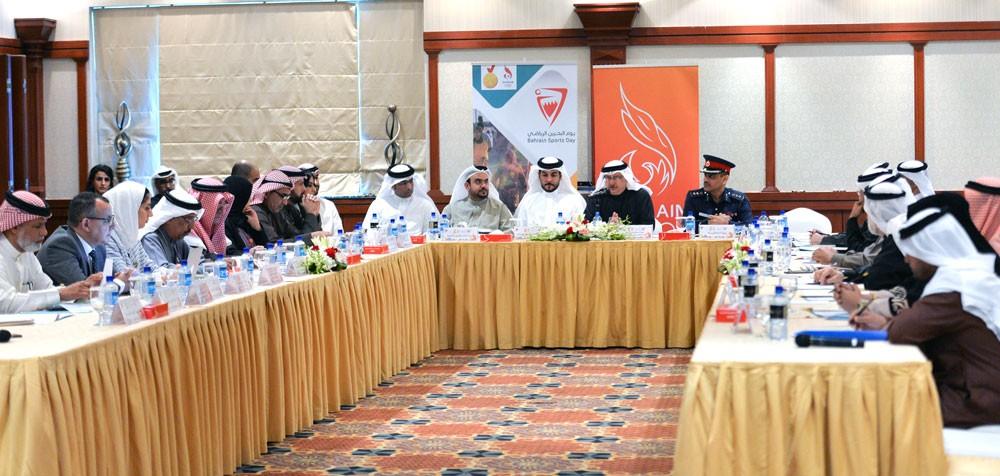 اليوم الاجتماع الثالث للجنة المنظمة العليا ليوم البحرين الرياضي
