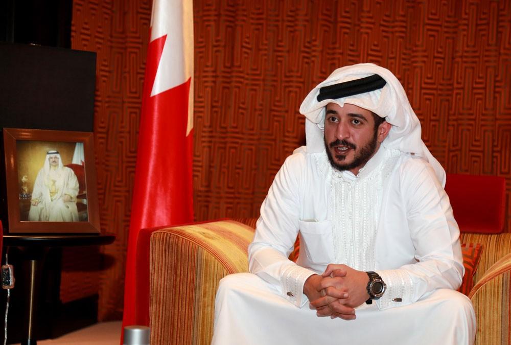 خالد بن حمد: وزارة الأشغال لها دور محوري في دعم بطولة #أقوى_رجل_بحريني