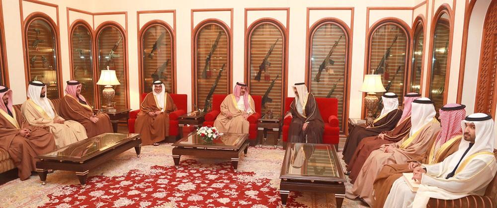الملك يستقبل سمو الشيخ أحمد بن محمد بن سلمان آل خليفة