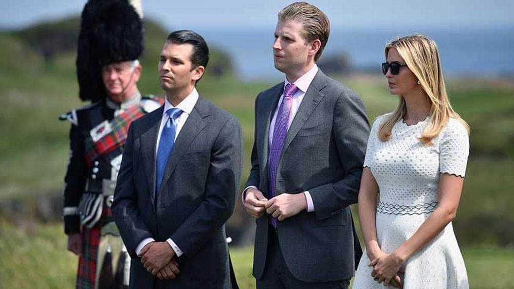 """نقل زوجة ابن ترامب إلى المستشفى بعد تلقي رسالة """"مشبوهة"""""""
