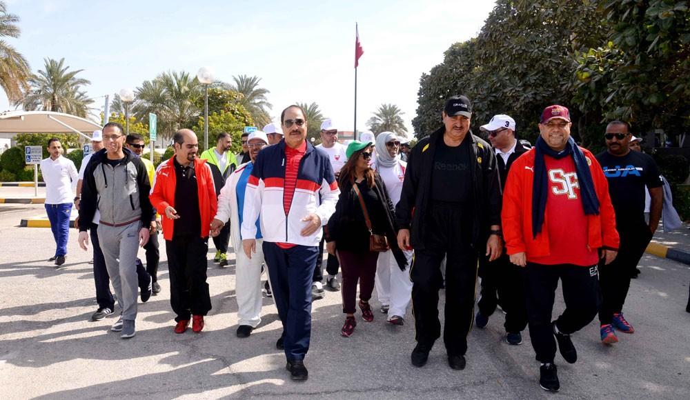 """مشاركة واسعة لوزارة العمل والتنمية الاجتماعية في """"يوم البحرين الرياضي"""""""