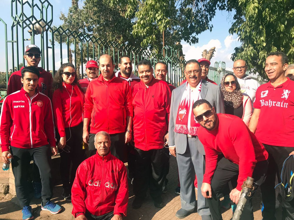 سفارة البحرين في مصر تشارك باليوم الرياضي