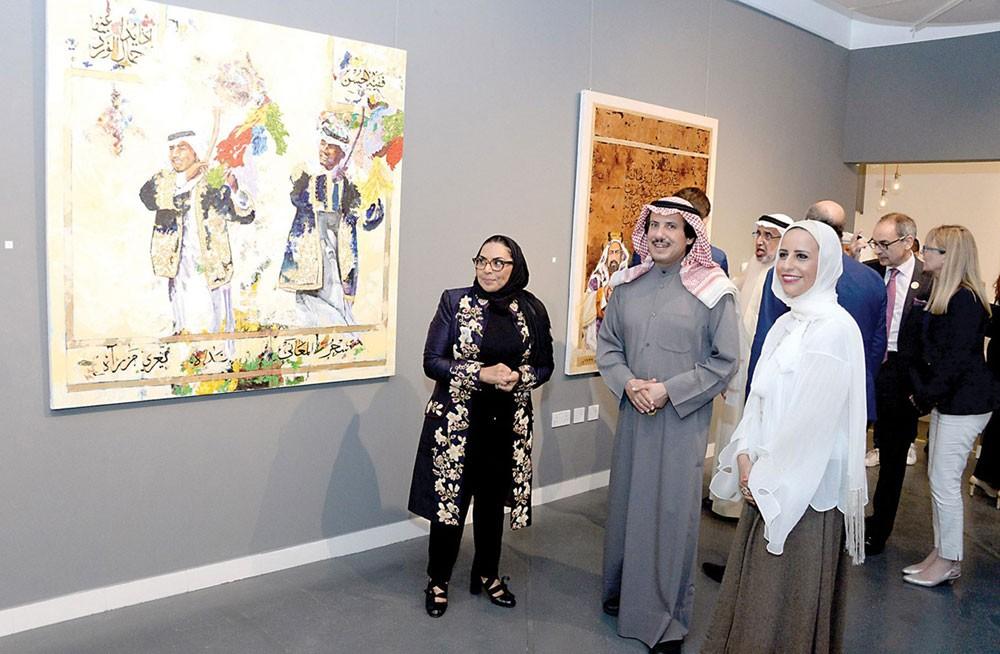 افتتاح معرض (هوية) للفنانة الكويتية مي السعد بالبحرين