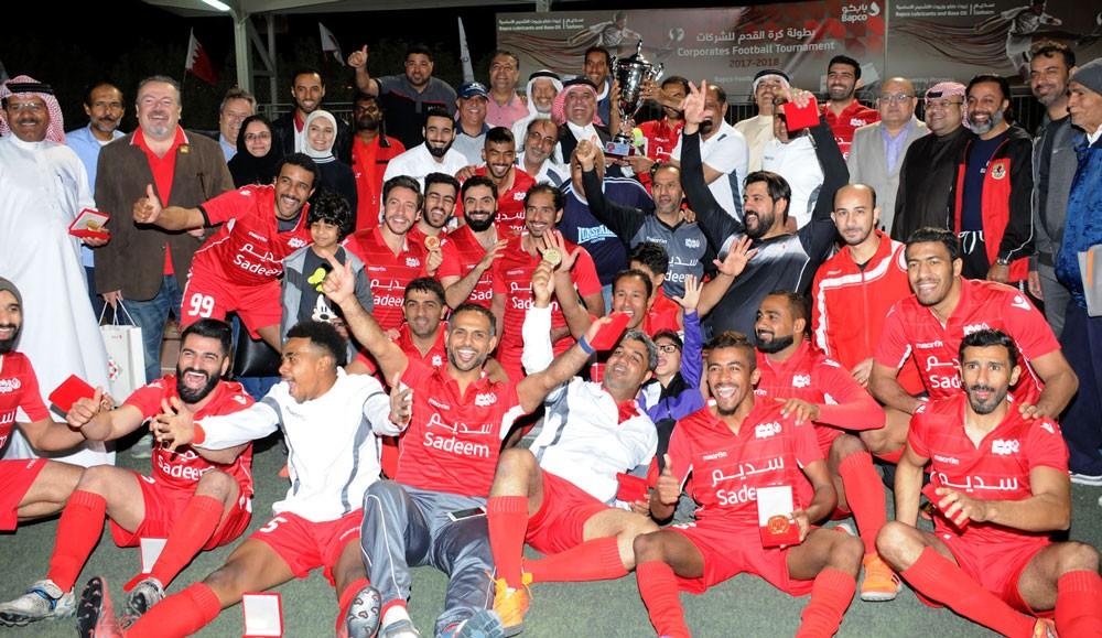 """""""بابكو"""" يقبض على لقب كأس بابكو للشركات الكروية للمرة الثانية على التوالي"""
