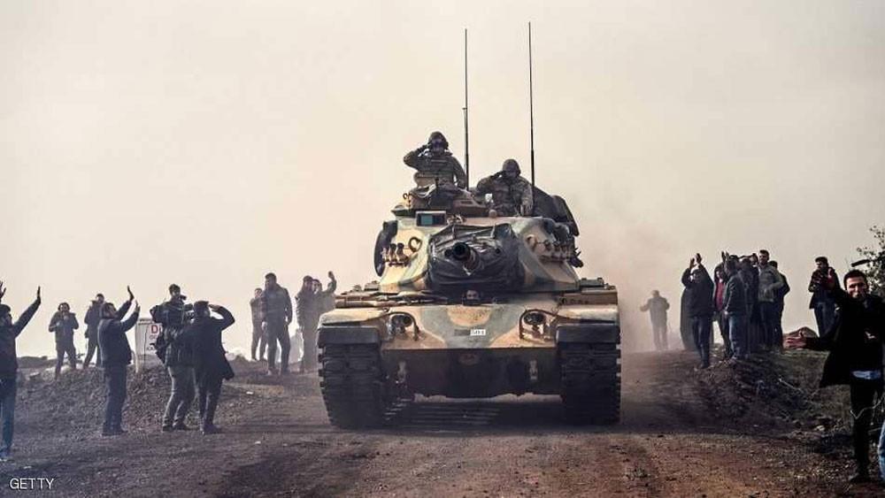 """الجيش التركي """"يستكمل سيطرته"""" على الشريط الحدودي مع عفرين"""