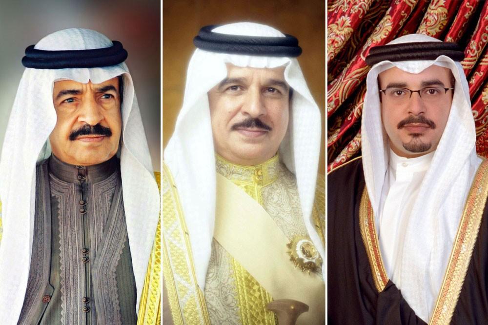 جلالة الملك المفدى وسمو رئيس الوزراء وسمو ولي العهد يهنئون السلطان قابوس