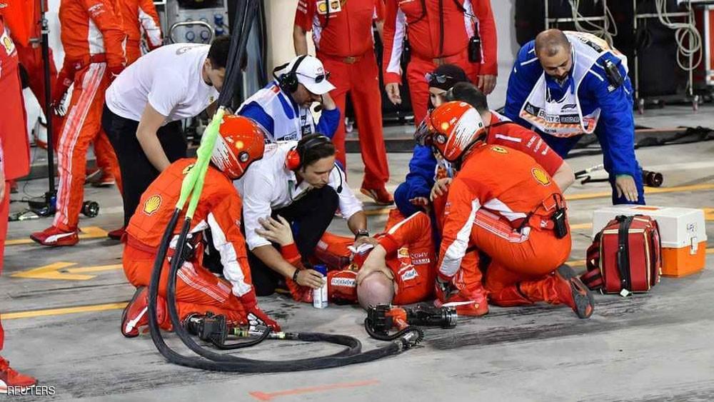"سائق فيراري يدهس زميله في سباق ""فورمولا 1"""