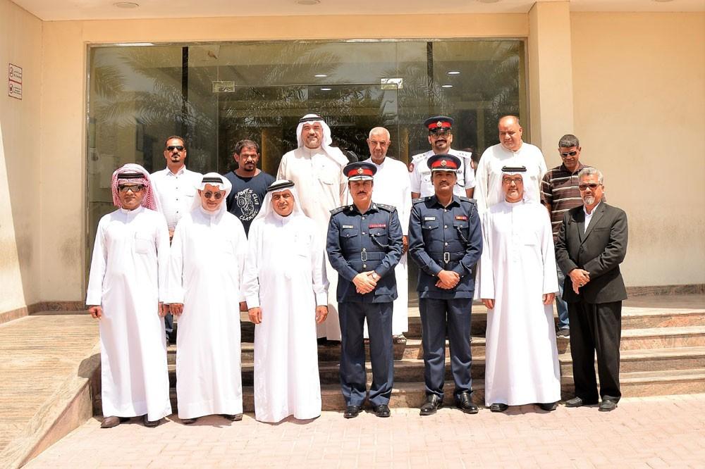 مدير عام شرطة المحافظة الشمالية يجتمع  بوفد من أهالي كرزكان