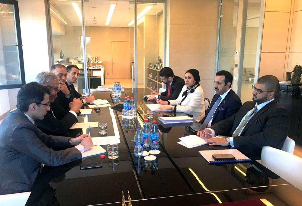 """رئيس """"دراسات"""" يلتقي في باكو قيادات مركز الدراسات الإستراتيجية"""