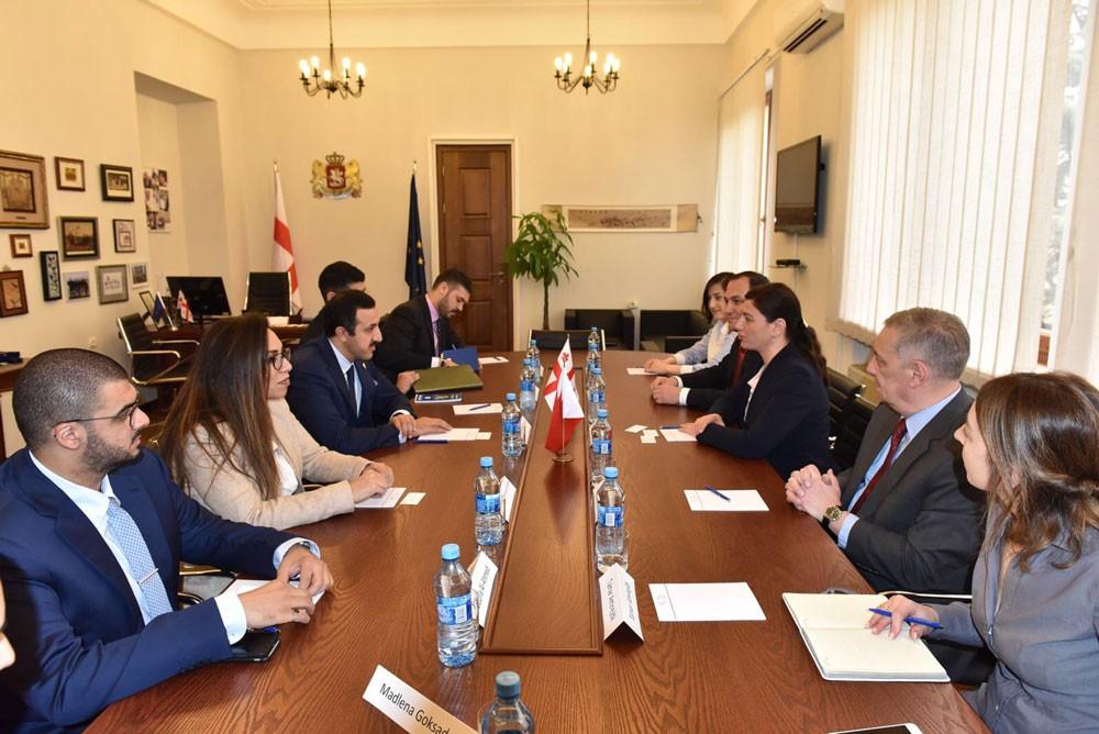 عبدالله بن أحمد يلتقي قيادات أكاديمية وبرلمانية خلال زيارته جورجيا