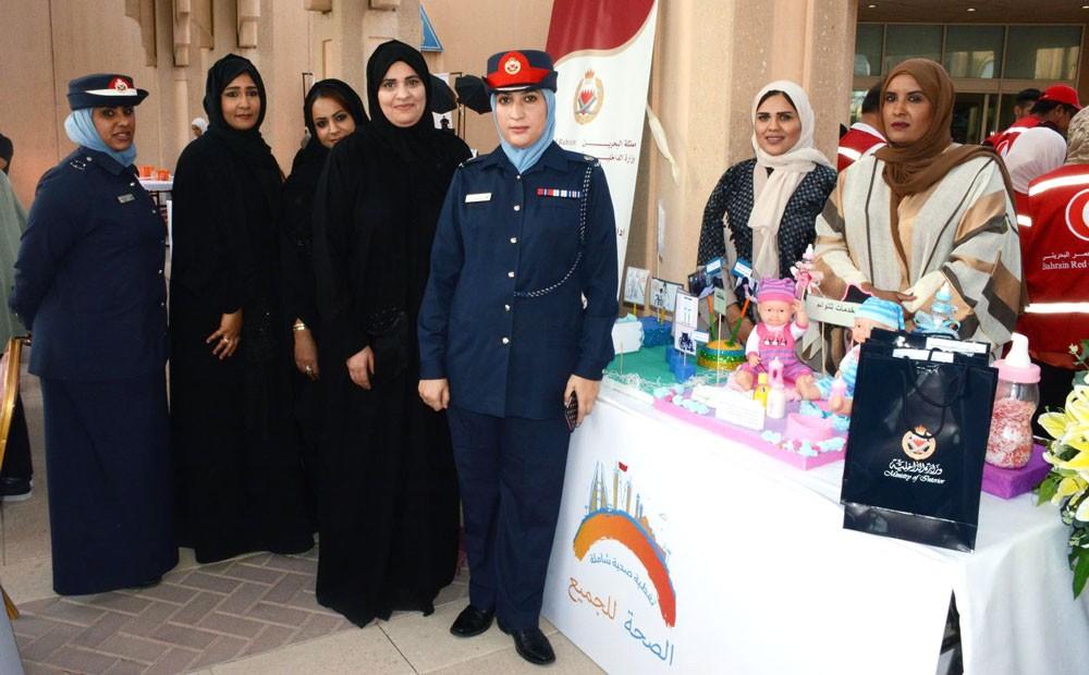 وزارة الداخلية تشارك في الاحتفال بيوم الصحة العالمي