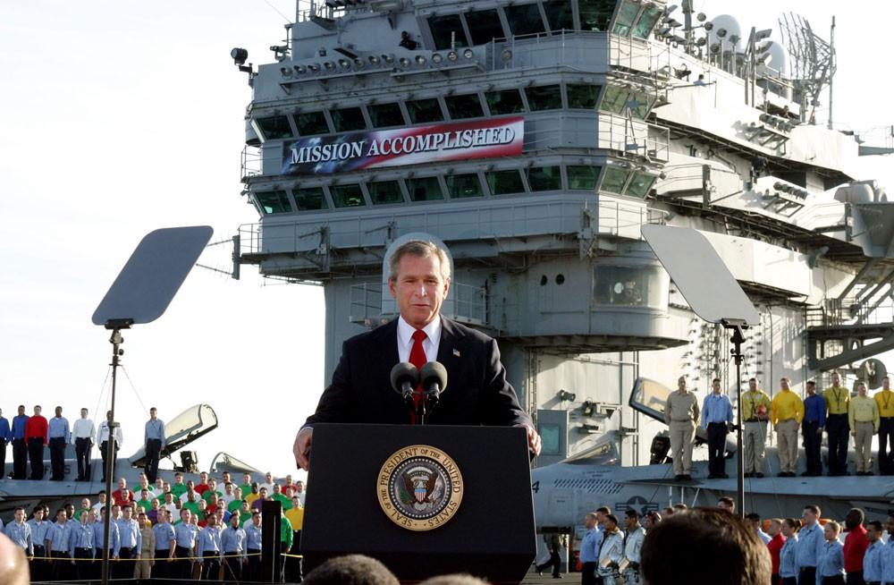 عبارة قالها بوش في 2003 وأعادها ترمب.. وأثارت الجدل