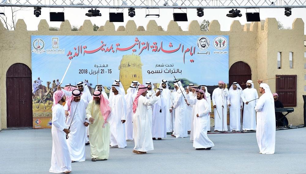 افتتاح أيام الشارقة في الذيد وتواصل الفعاليات في قلب الشارقة