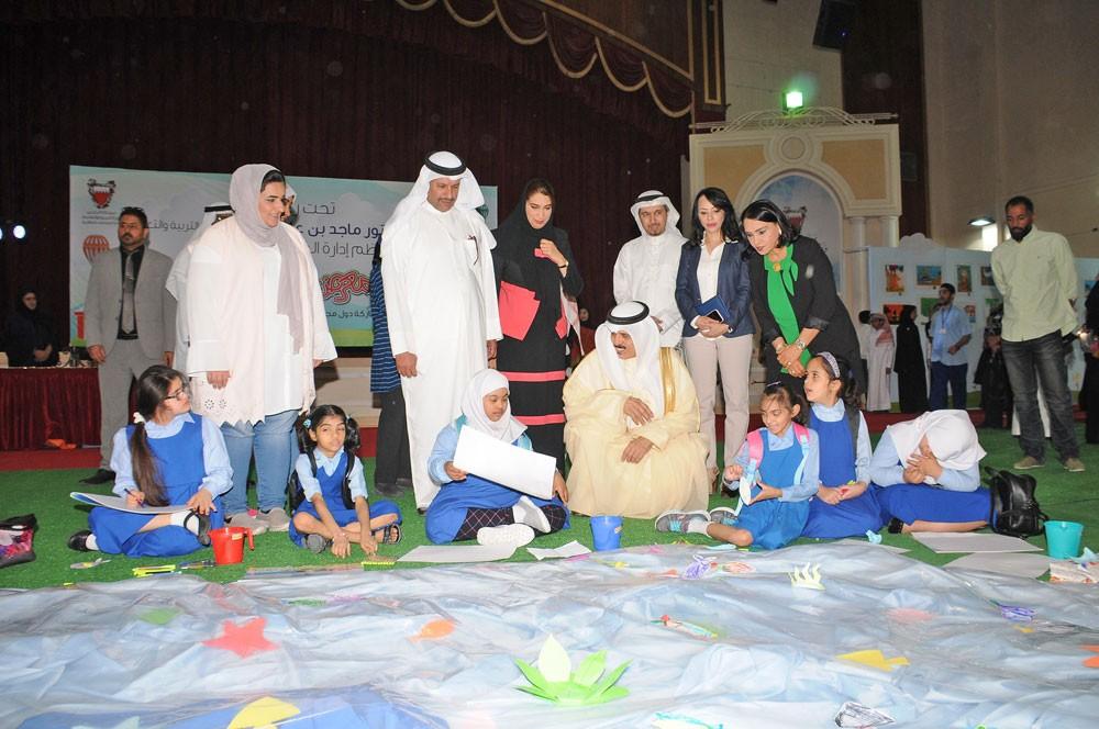 وزير التربية يفتتح معرض فن الطفل الـ44 بمشاركة طلبة دول الخليج