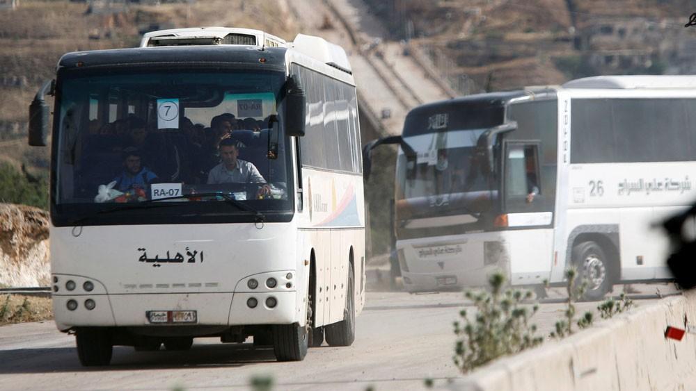 انتهاء إجلاء مقاتلي المعارضة وسط سوريا