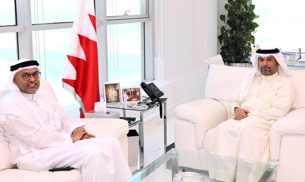 بن دينه يستقبل رئيس مجلس إدارة الخليج لدرفلة الألمنيوم