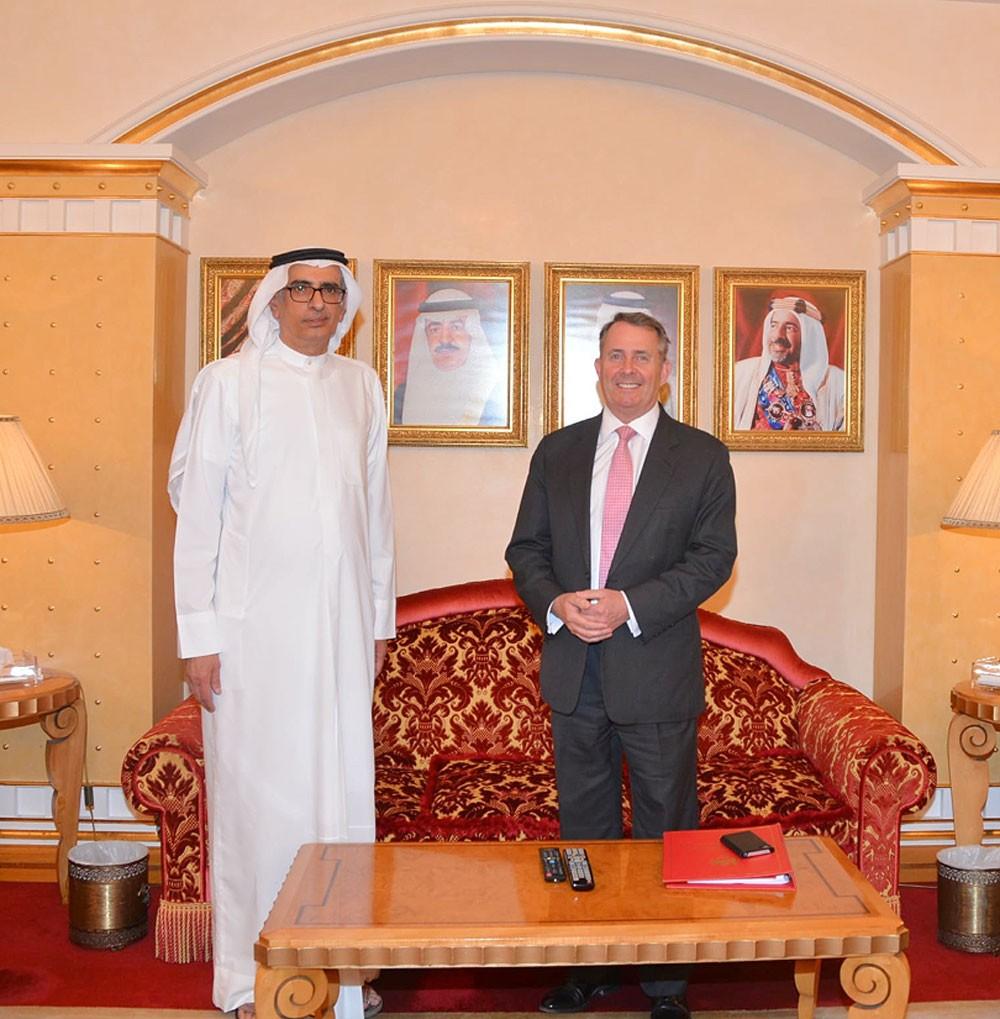 وكيل وزارة الصناعة والتجارة والسياحة يستقبل وزير الدولة للتجارة الدولية بالمملكة المتحدة