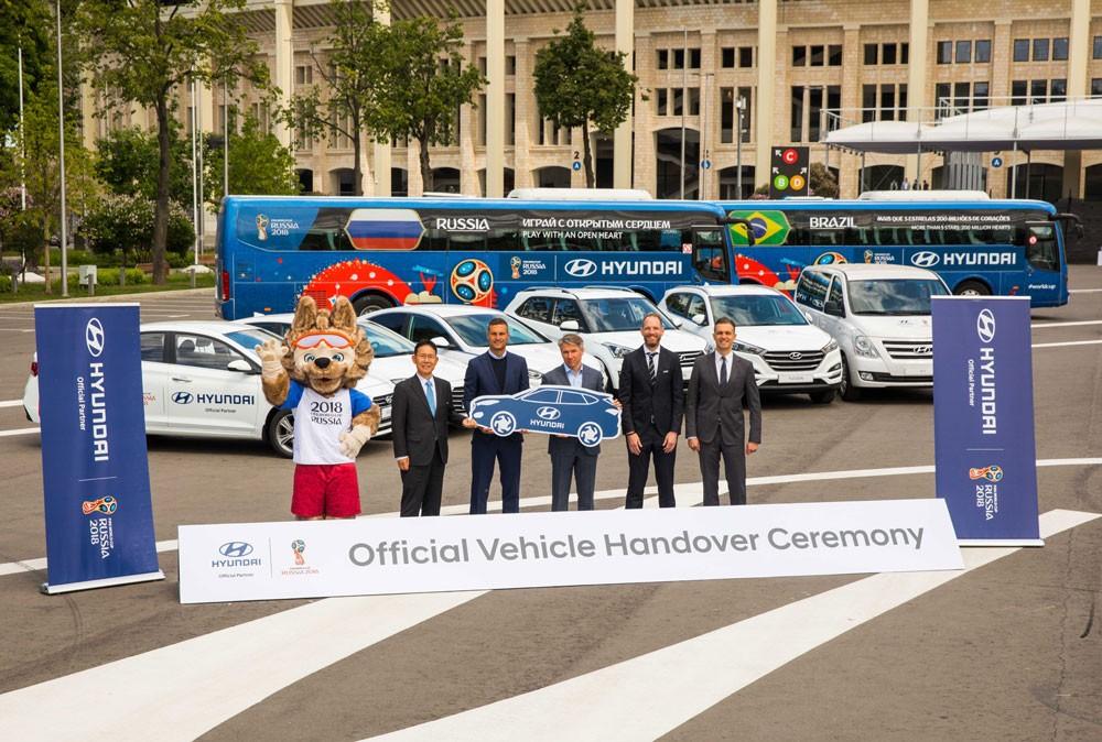 هيونداي تقدّم أسطولاً من مركباتها إلى كأس العالم