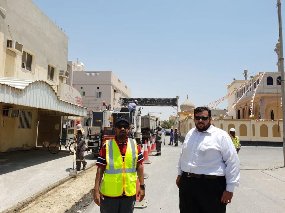 البلدي الدوسري: البدأ في حل مشكلة تجمع مياه الأمطار في قرية الهملة