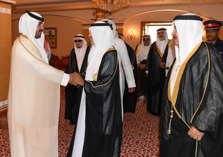 الشيخ خليفة بن راشد ال خليفة يستقبل الشيخ نهيان بن مبارك