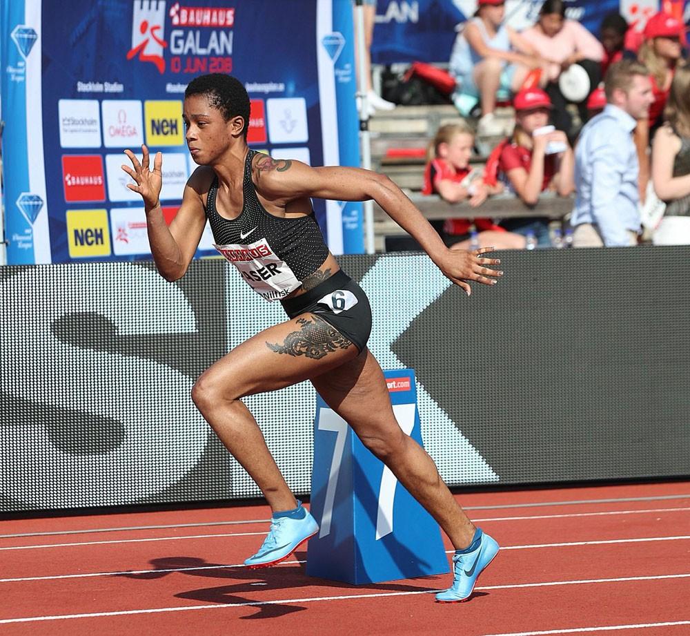 سلوى عيد بطلة سباق 400 متر بجولة ستوكهولم بالدوري الماسي