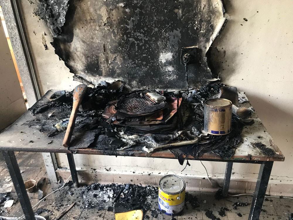 التربية: حريق في ورشة بإعدادية الخليل بن أحمد وأضرار مادية بالغة ولا إصابات