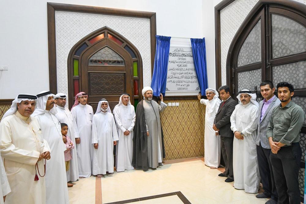 رئيس الأوقاف الجعفرية يفتتح جامع الشيخ عبدالله في القدم ويشيد بجهود المتبرعين