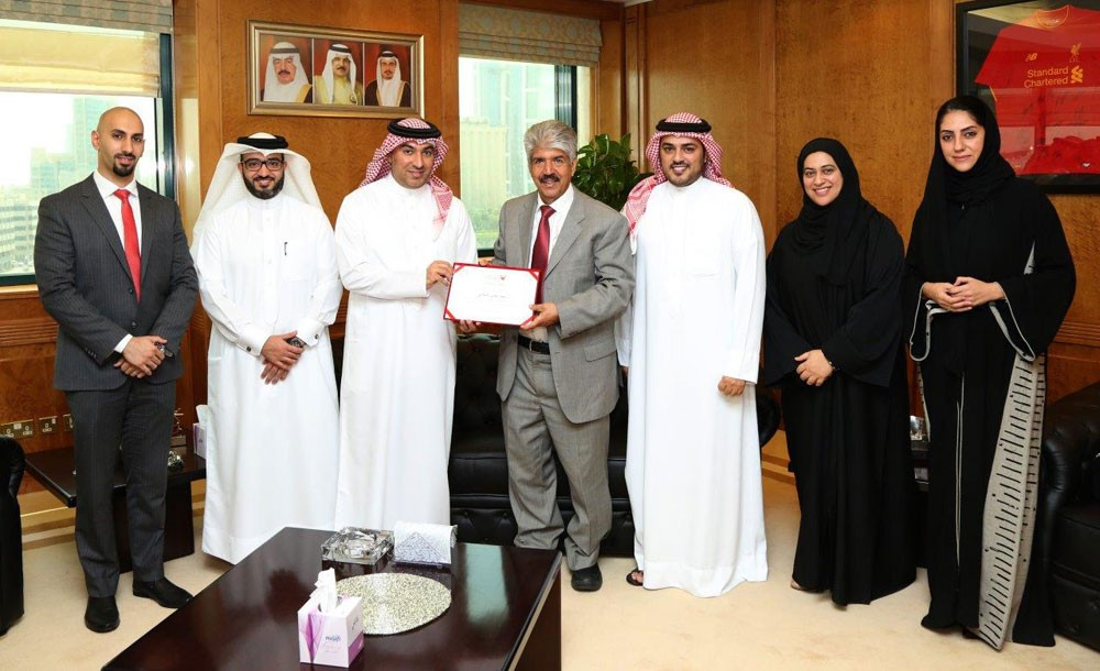 الخيرية الملكية تتسلم تبرعاً مالياً من بنك البحرين الإسلامي