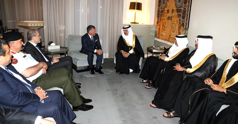 ملك الأردن يقدم التعازي لجلالة الملك