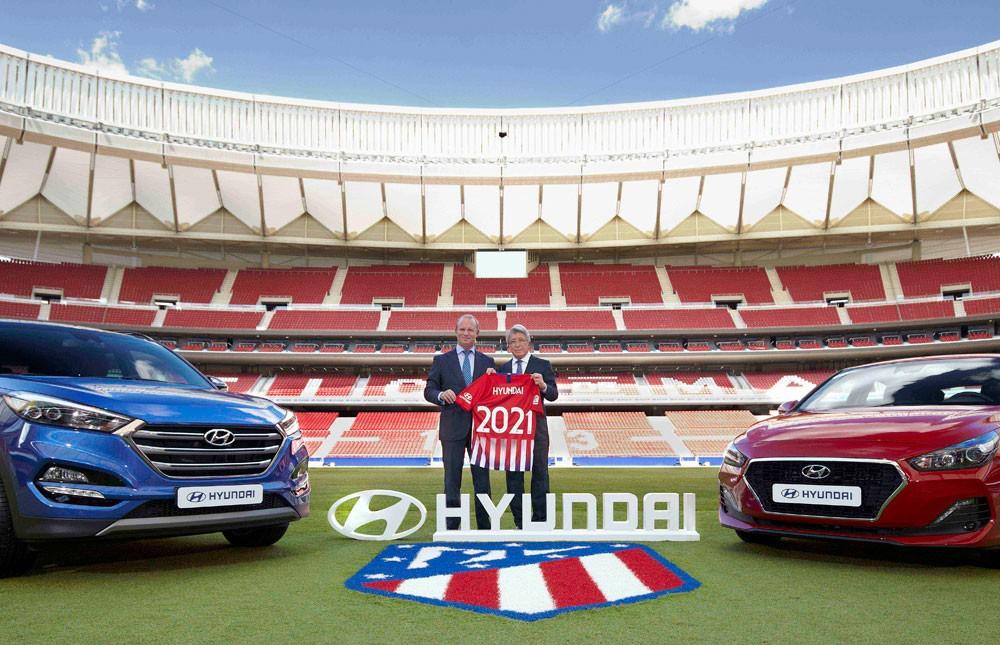 هيونداي توقع شراكة عالمية مع نادي أتليتيكو مدريد
