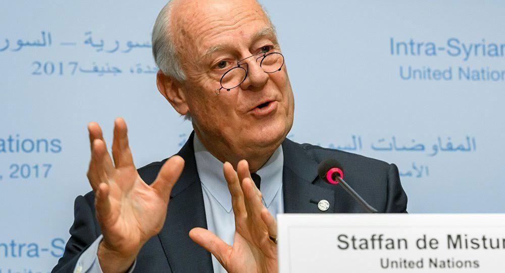دي ميستورا: نشهد حراكا في العملية السياسية بسوريا