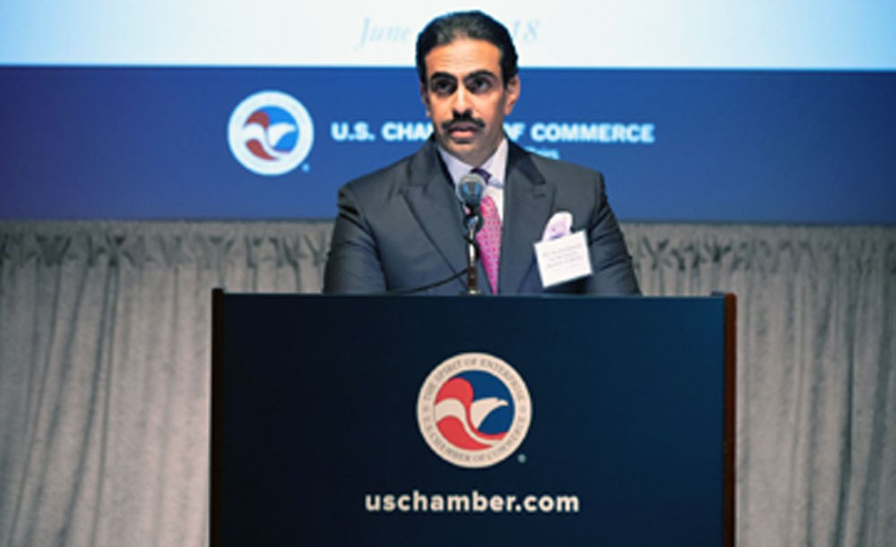 """سفير مملكة البحرين يشارك في القمة الاستثمارية """"اختار الولايات المتحدة"""""""