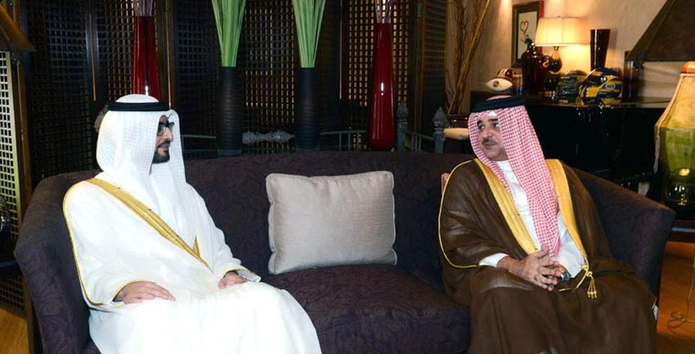 سمو ممثل الملك يستقبل سفير الامارات