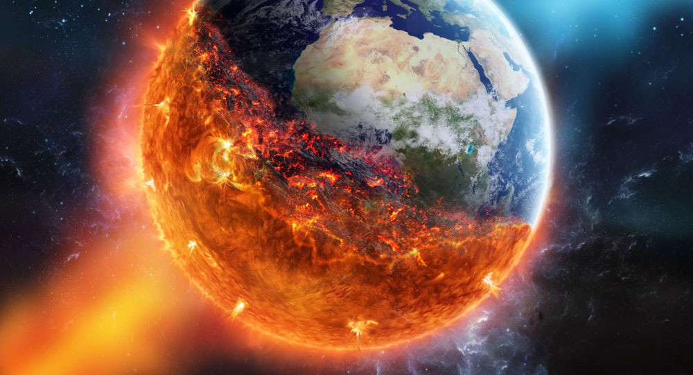 نشاط حراري للأرض ينذر بنهاية وشيكة للعالم