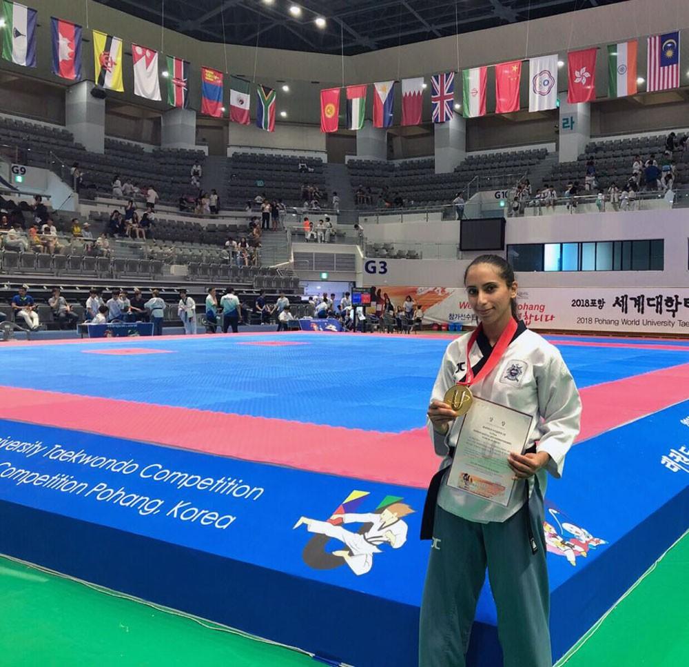 البنعلي تحرز الميدالية الذهبية في بطولة العالم للجامعات